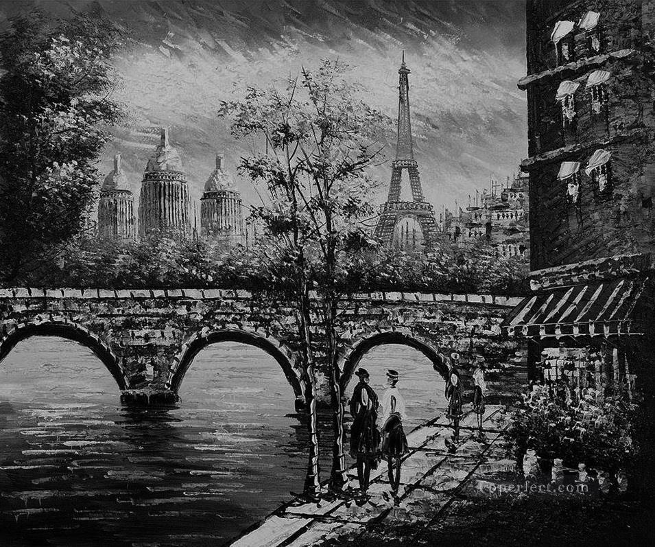 Black And White Paintings of The Eiffel Tower 1 Black And White Eiffel Tower