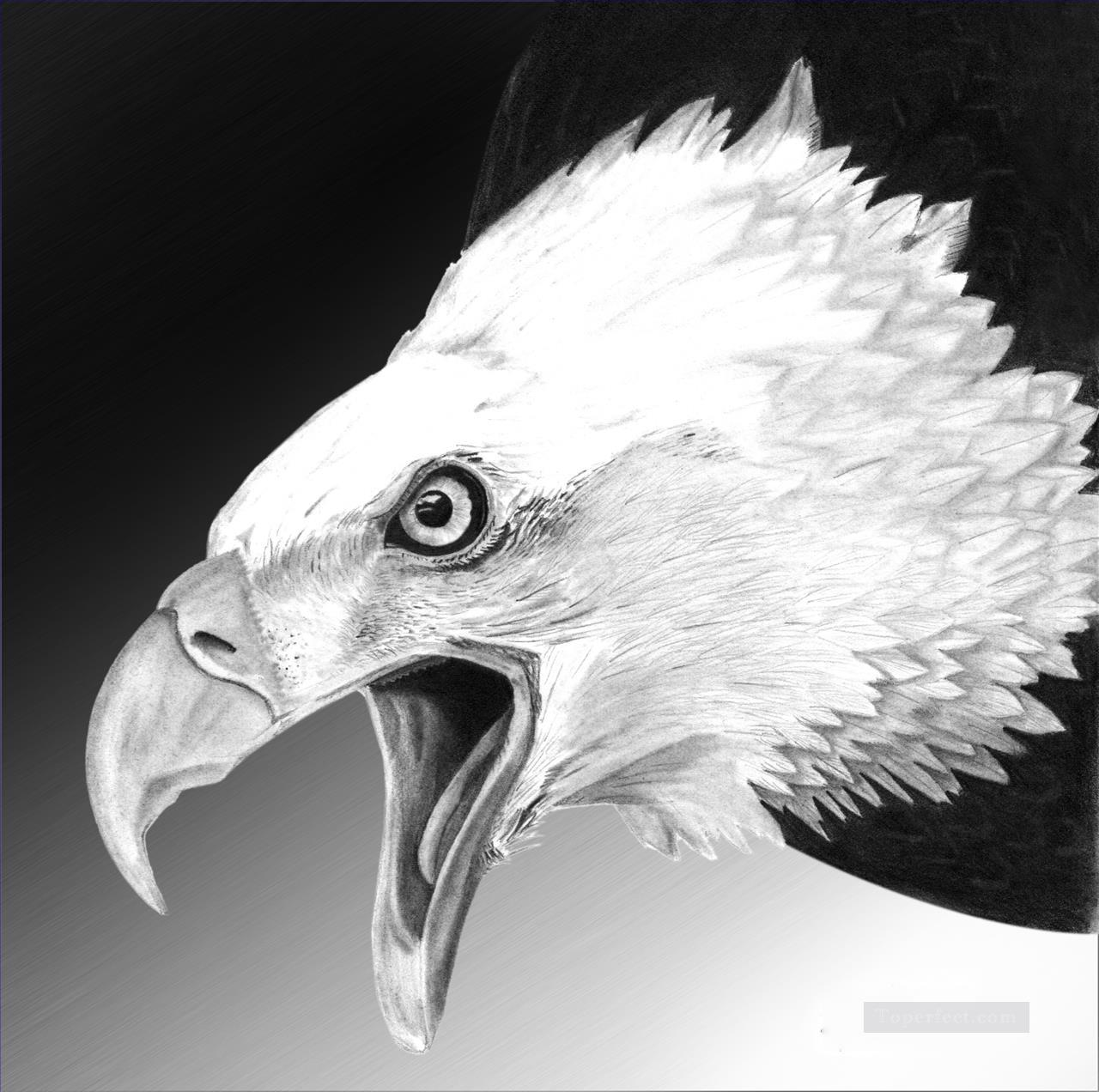 Art Gallery Paintings Black And White 4 White Eagle Black And White