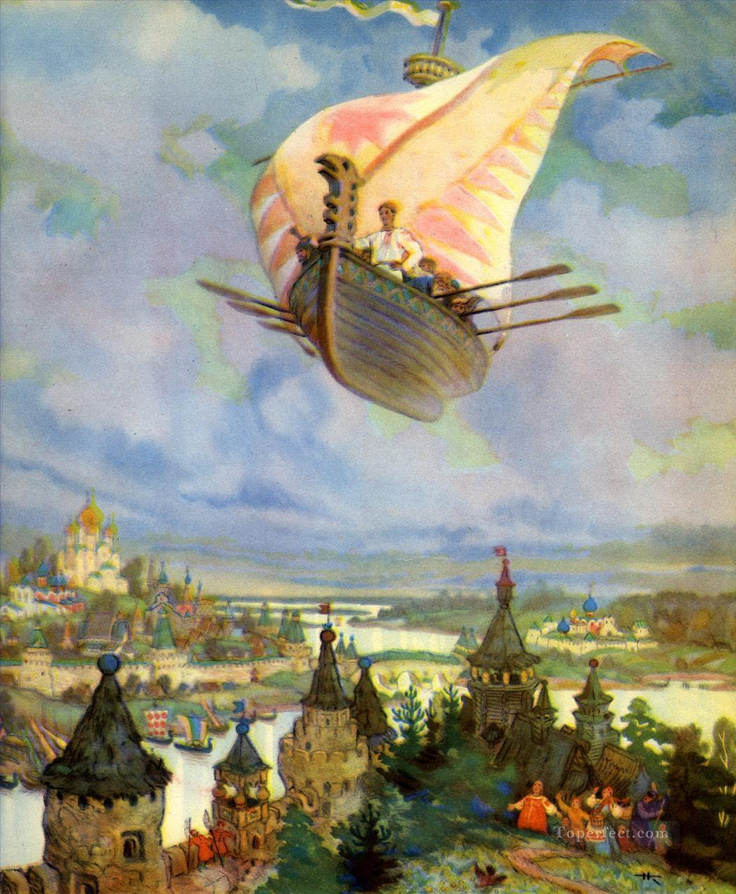 7 Russian nicolai kochergin the flying ship Fantasy