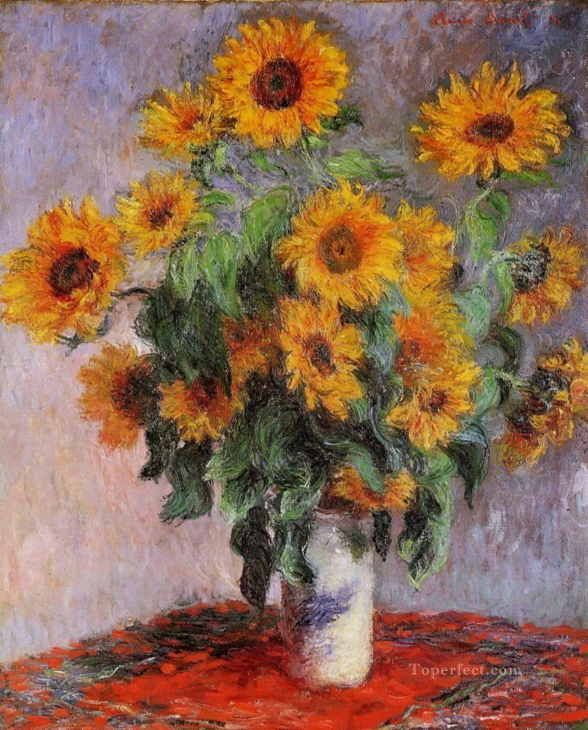 2 Bouquet of Sunflowers Claude Monet Impressionism Flowers
