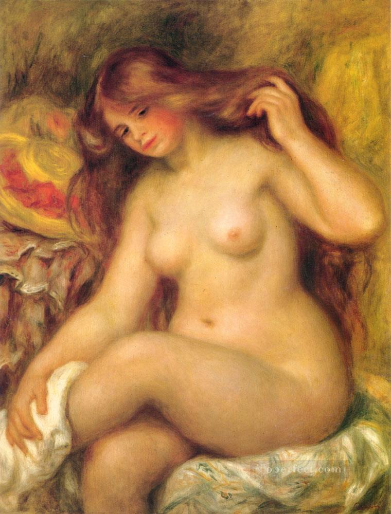 4 Bather with Blonde Hair female nude Pierre Auguste Renoir