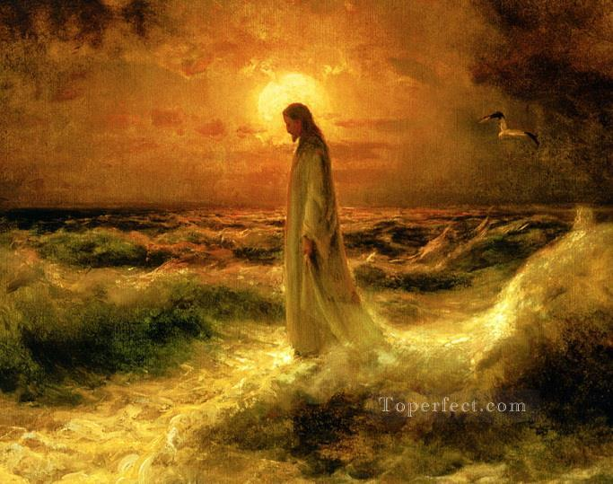 Oil Paintings Of 4 Jesus Christ Walking On Water Art For Sale By Artists