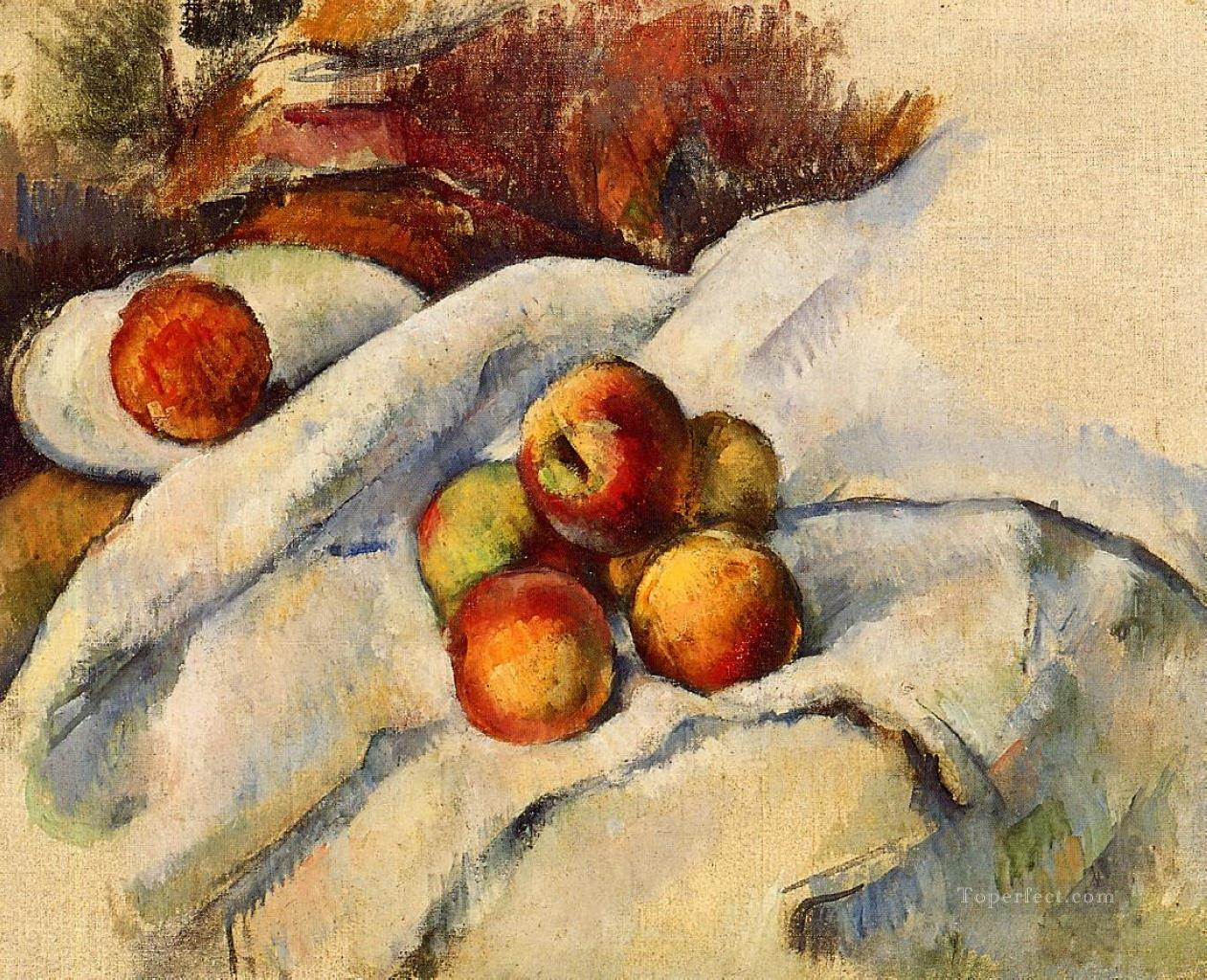 2 Apples on a Sheet Paul Cezanne Impressionism still life