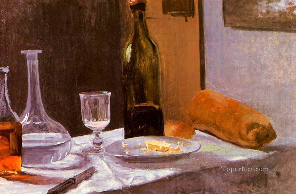 2 Still Life with Bottle Carafe Bread and Wine Claude Monet
