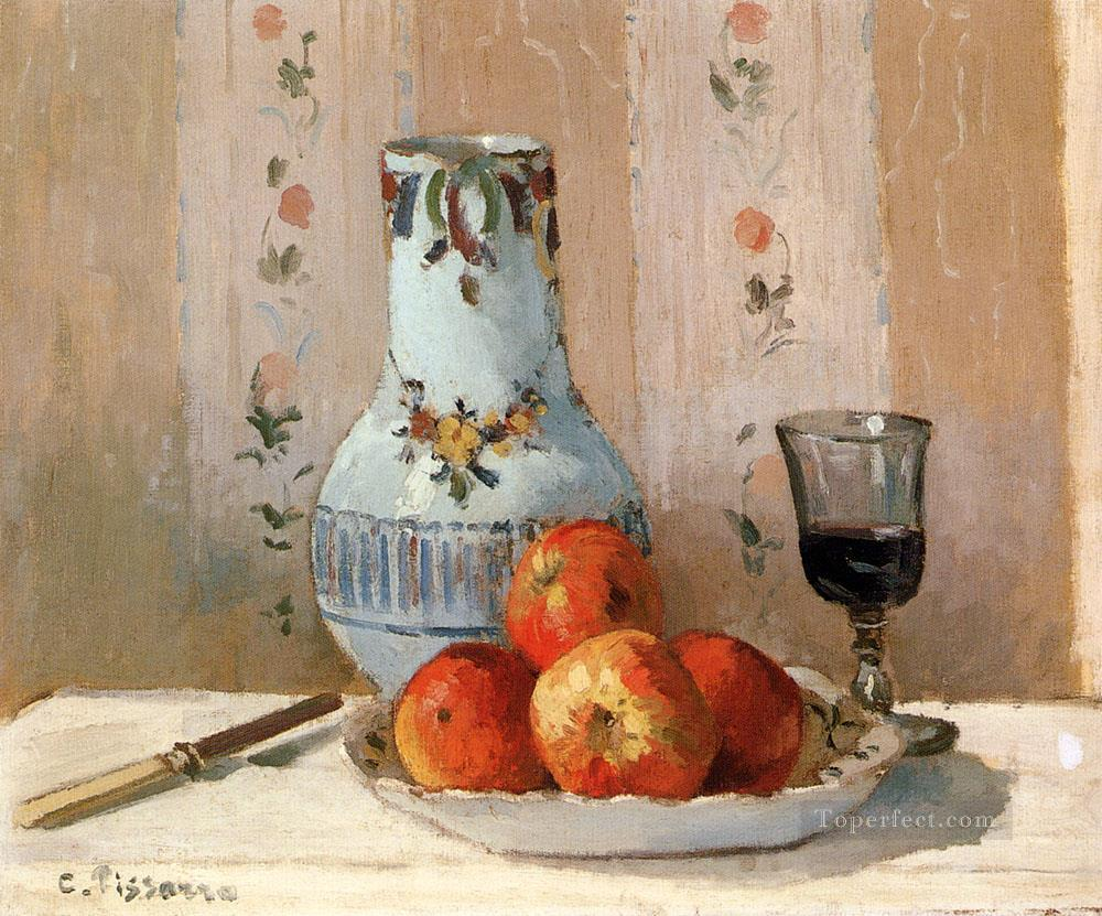 3 Still Life With Apples And Pitcher postimpressionism Camille Pissarro