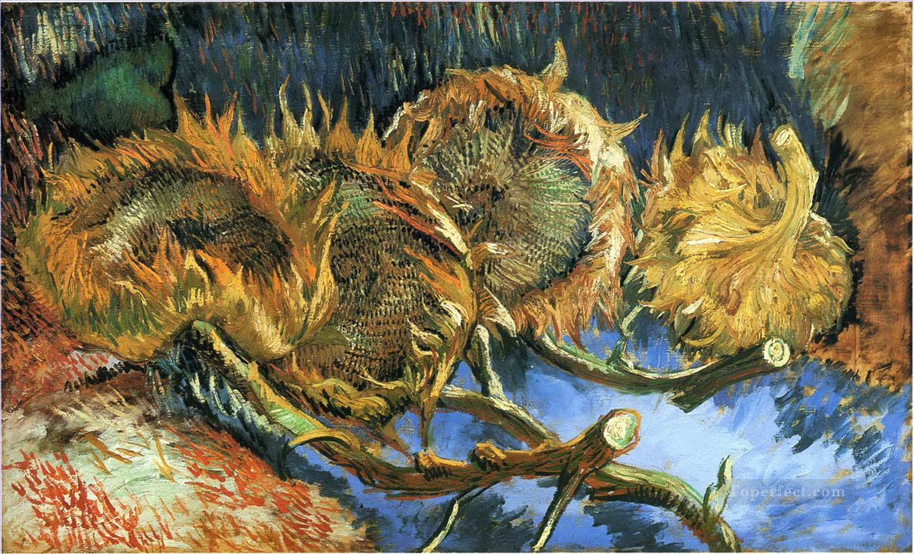 4 Still Life with Four Sunflowers Vincent van Gogh